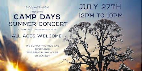 Camp Days Concert tickets