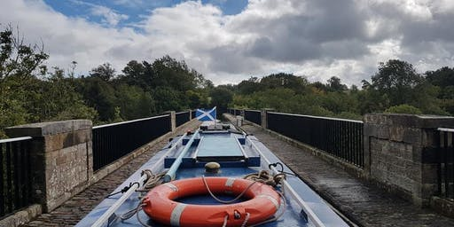 Narrowboat Cruise over Lin's Mill Aqueduct