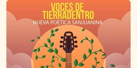Voces de Tierradentro. Nueva poética Sanjuanina entradas