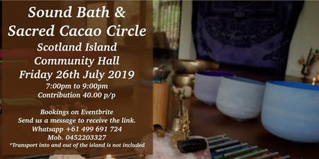 Sacred cacao circle and soundbath  tickets