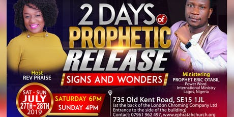 2 Days of Prophetic Release with Prophet Eric Otabil tickets