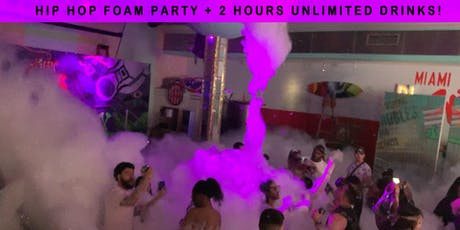 Hip Hop Sunday FOAM PARTY + 2 Hours of FREE DRINKS - Miami Beach tickets