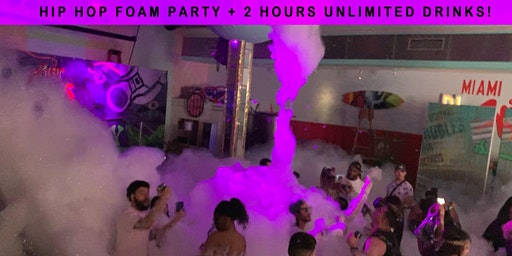 Hip Hop Sunday FOAM PARTY + 2 Hours of FREE DRINKS - Miami Beach