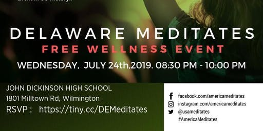 America meditates - Free country wide meditation event @ Delaware