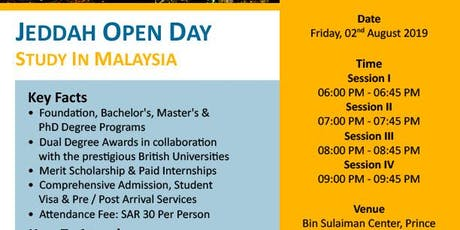 Study In Malaysia_Scholarships & Paid Internships tickets