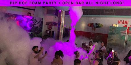 Hip Hop Sunday FOAM PARTY + Open Bar All Night Long! - Miami Beach tickets