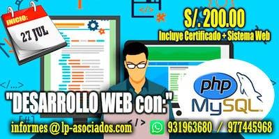 Desarrollo Web con PHP + MySQL