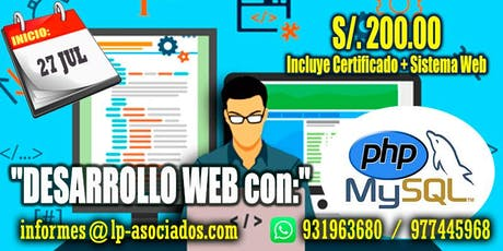 Desarrollo Web con PHP + MySQL entradas