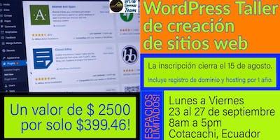 WordPress Website Creation Workshop   WordPress Taller de creación de sitios web