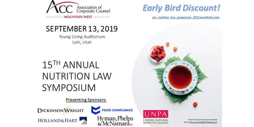 Nutrition Law Symposium 2019, ACC Mountain West (15th Annual!)