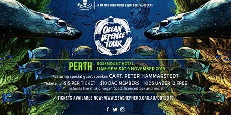 Sea Shepherd's Ocean Defence Tour - PERTH tickets
