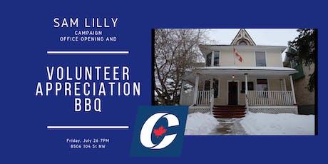 Volunteer appreciation/Campaign Office Opening tickets
