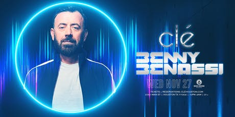 Benny Benassi / Wednesday November 27th / Clé tickets
