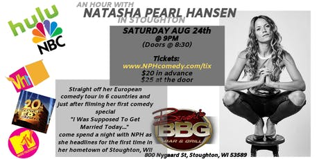 NATASHA PEARL HANSEN Headlines in STOUGHTON, WI tickets