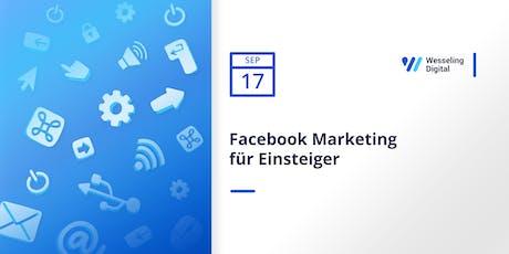 Facebook Marketing für Einsteiger Tickets