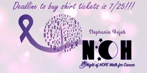 Night of Hope Walk - Team Stephanie Hajek