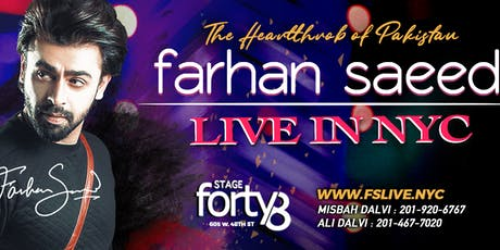 Farhan Saeed : Live In Concert - Times Square NYC tickets