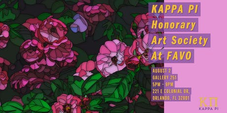 KAPPA PI Honorary Art Society At FAVO Gallery 251 tickets