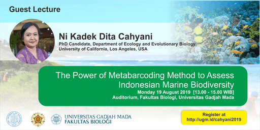[Guest Lecture]  Assessing  Indonesian Marine Biodiversity by Metabarcoding