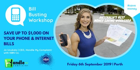 Bill Busting Workshop - Save on yr Telco Bills with Jo Ucukalo and NBN Co. tickets