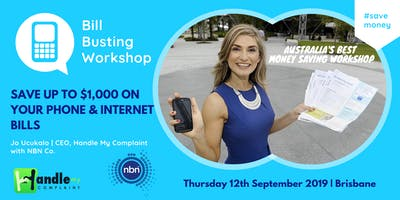 Bill Busting Workshop - Save on yr Telco Bills with Jo Ucukalo and NBN Co.