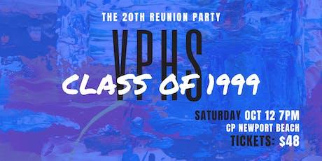 Villa Park High School 20th Reunion Party | Class of 1999 tickets