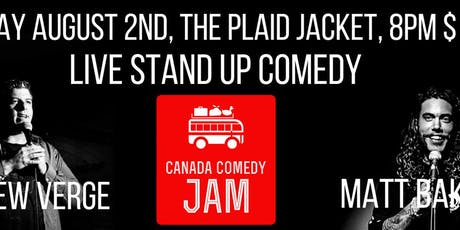 Canada Comedy Jam at The Plaid Jacket! tickets