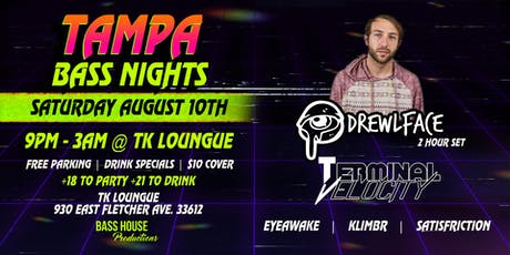 8-10 Tampa Bass Nights presents DREWLFACE tickets