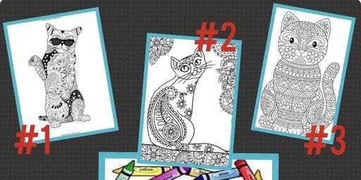Crafting with Cats - coloring
