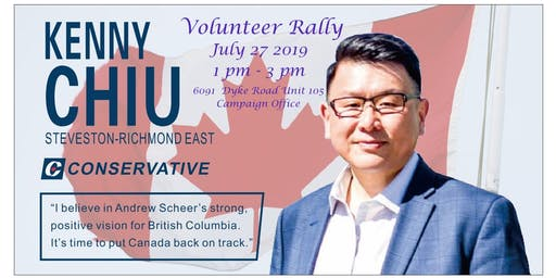 Volunteer Rally for Kenny Chiu