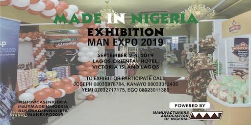 MADE IN NIGERIA EXHIBITION, MAN EXPO 2019