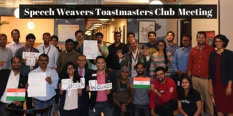 ToastMasters Meeting at Speech Weavers Club  tickets