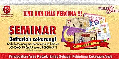 Seminar Kelebihan Menyimpan Emas Melaka Branch 24/7/2019