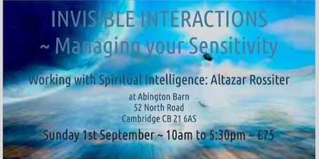 Working with Spiritual Intelligence - Altazar Rossiter tickets