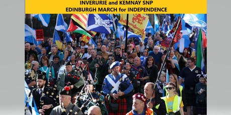 Bus from Inverurie to  Edinburgh.  Scotland's March for Independence 5th October. tickets