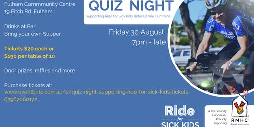 Quiz Night Supporting Ride for Sick Kids