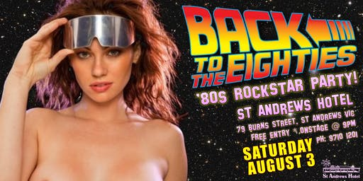 Back To The Eighties live at St Andrews Hotel The Ultimate 80s Show