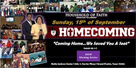 Household of Faith Christian Fellowship 2019 Homecoming tickets