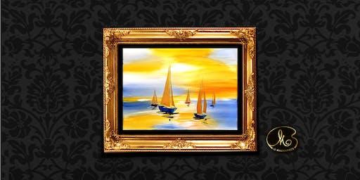 Sip & Paint: Golden Yacht