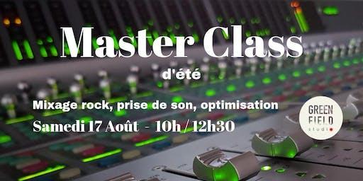 Les Formations au Studio - Master Class Eté 2019