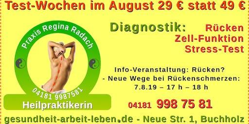 Rückenschmerzen? - Warum? Wieso? Info-Veranstaltung August