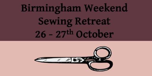 Sewing weekend retreat at Birmingham University