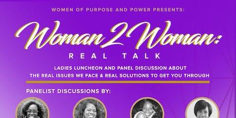 Woman 2 Woman: Real Talk tickets