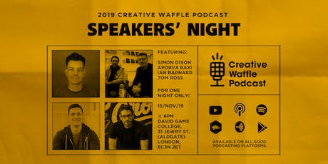 Creative Waffle Speaker Night 2019 tickets
