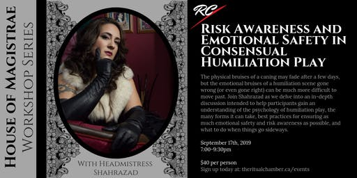 Risk Awareness and Emotional Safety in Consensual Humiliation Play