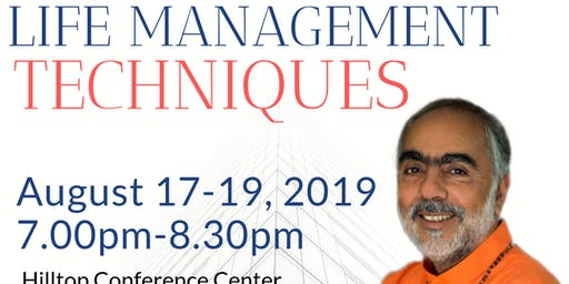 Please Register for Talk on Life Management Techniques discourses by Swami Swaroopananda (FREE)
