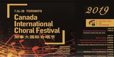 2019 Canada International Choral Festival (CICF) tickets