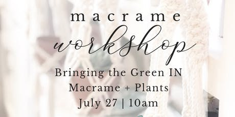 Macrame + Botanicals | By the Sea tickets