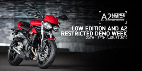 Triumph Motorcycles Low Ride and A2 Restricted Test Ride Event tickets
