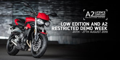 Triumph Motorcycles Low Ride and A2 Restricted Test Ride Event